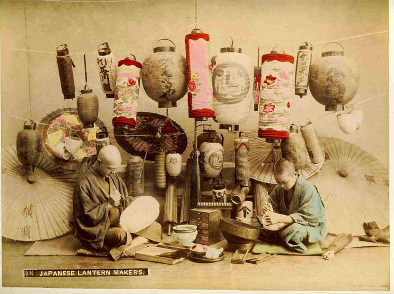 Vintage Japanese photo lantern makers.