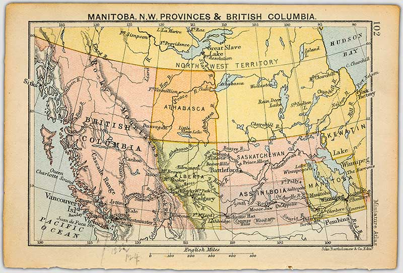 Manitoba and western Canada Map