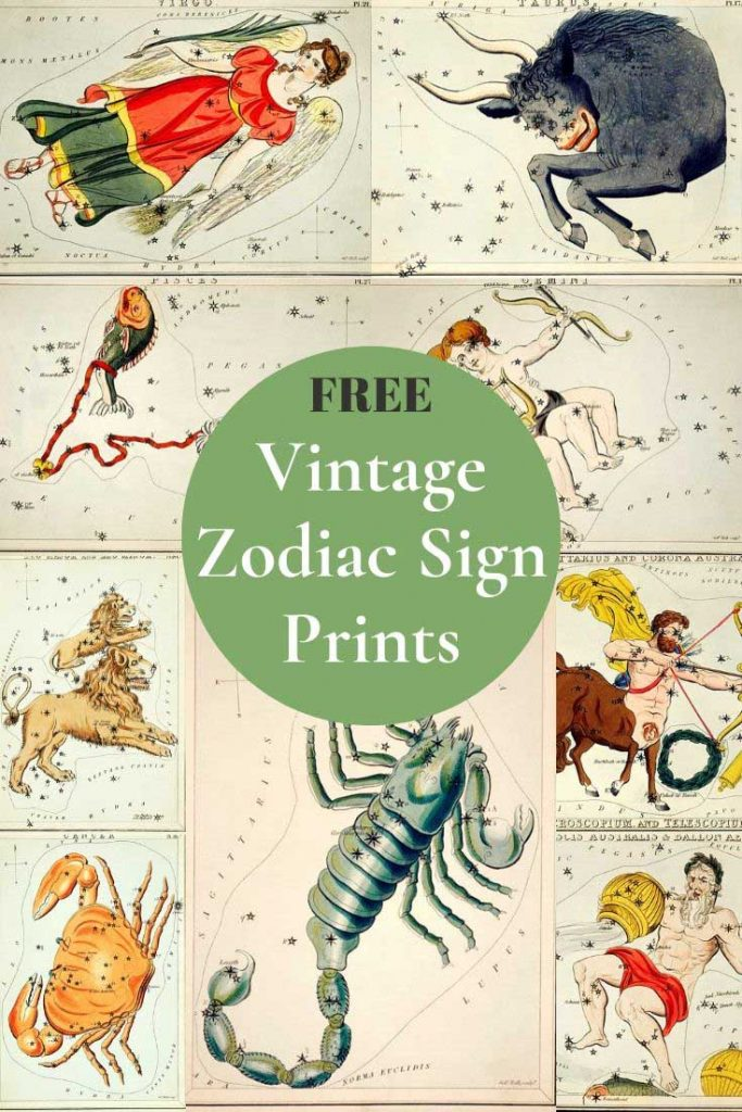 12 signs of the zodiac pictures vintage