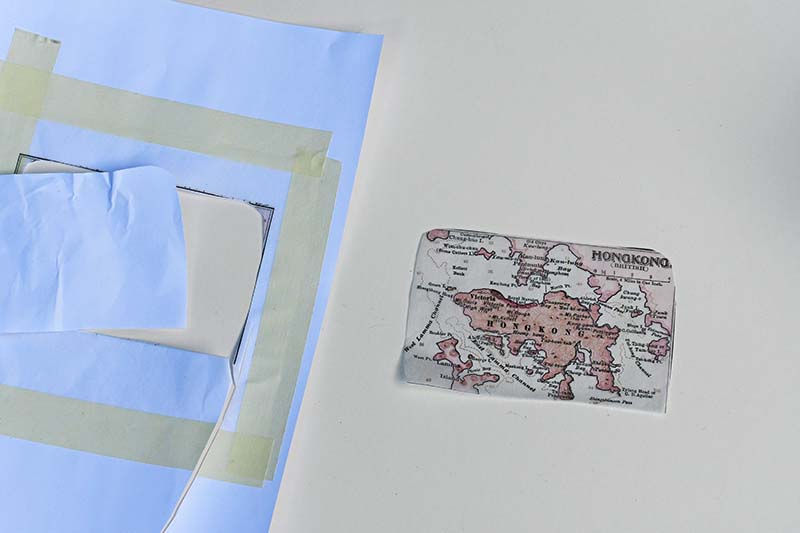 Cutting out tissue map