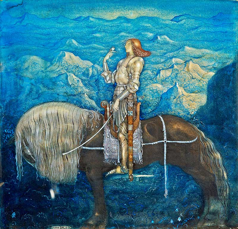 John Bauer knight print