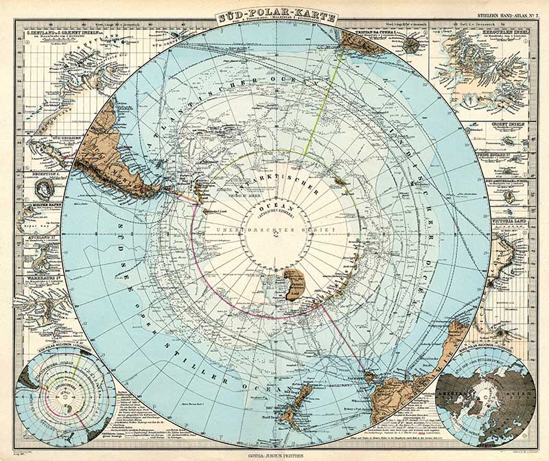 South Pole Map 1891