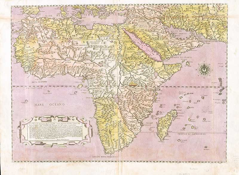 1562 African continent map