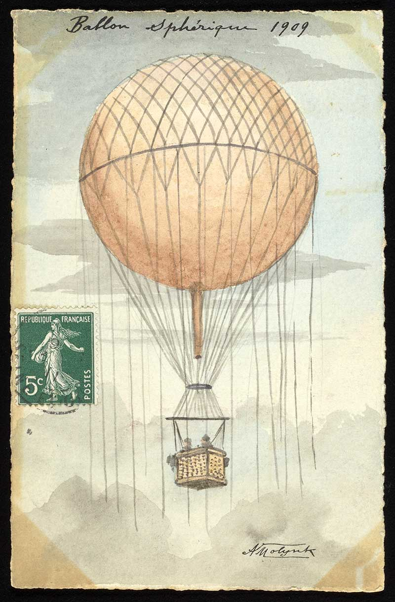 spherical hot balloon.