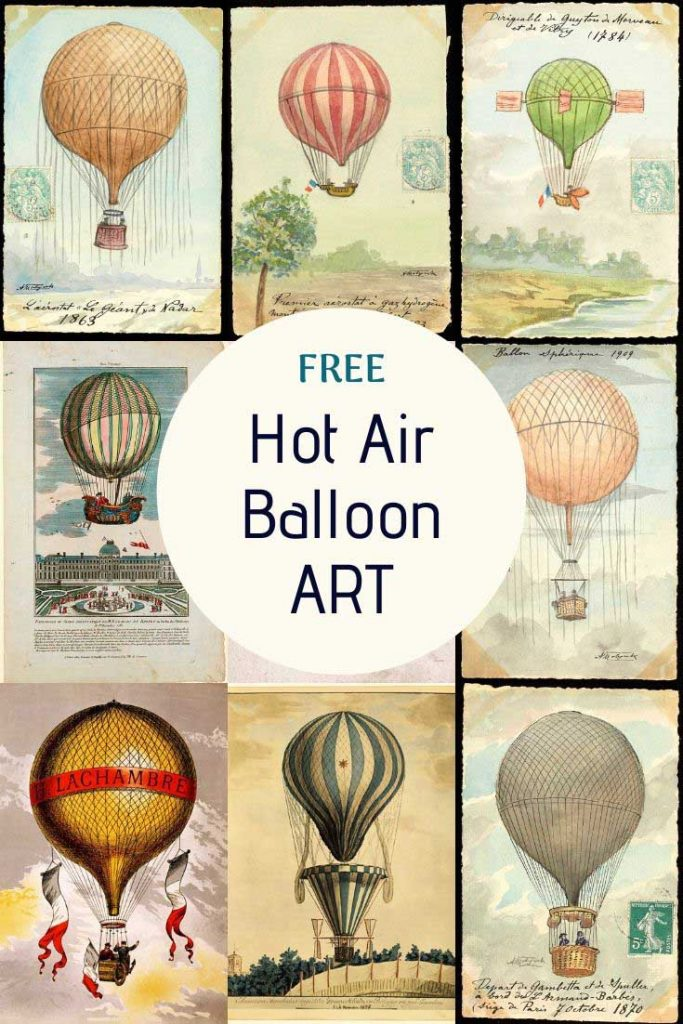 Free Hot Air Balloon Prints