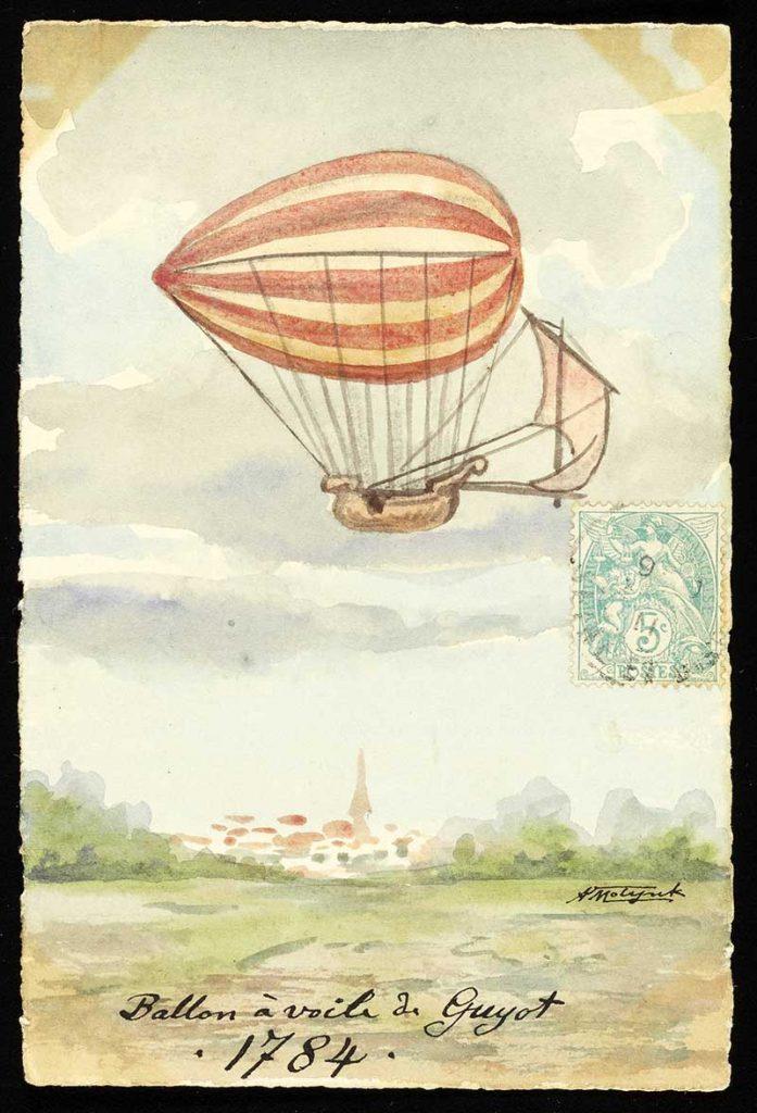 airship style hot air balloon