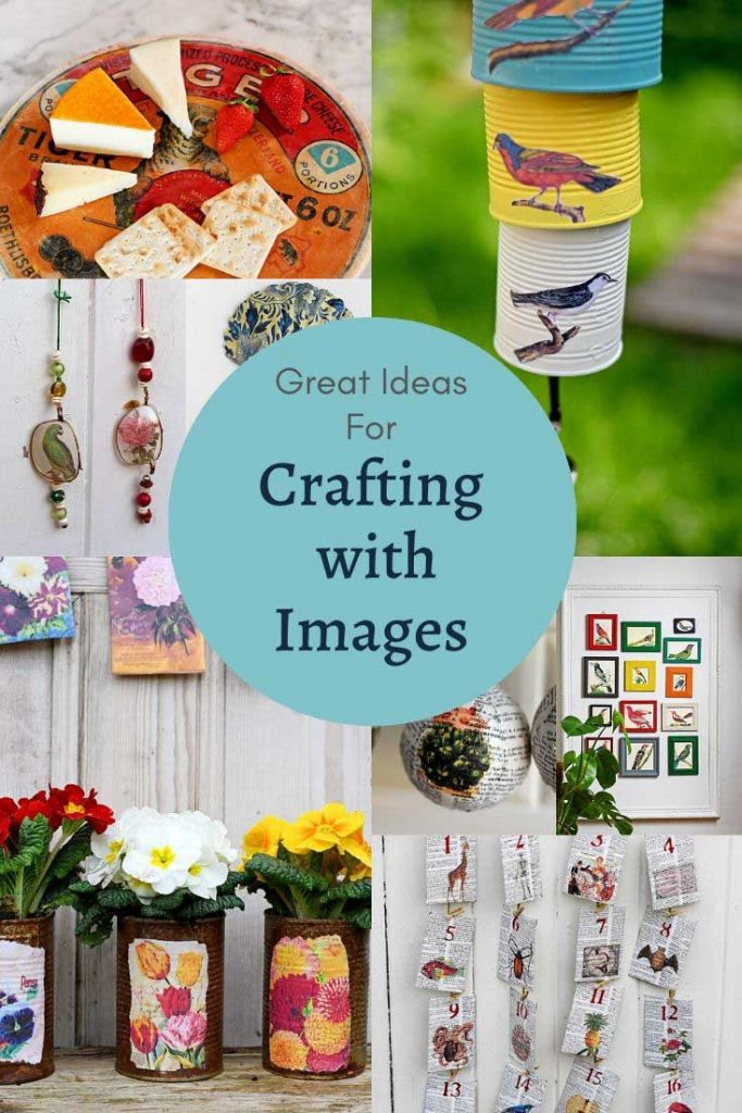 Ideas for crafts and DIY's with vintage images