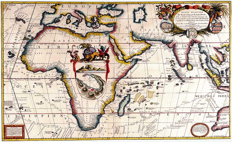 Antique Maps of the World Map of Africa Vincenzo Coronelli c 1690
