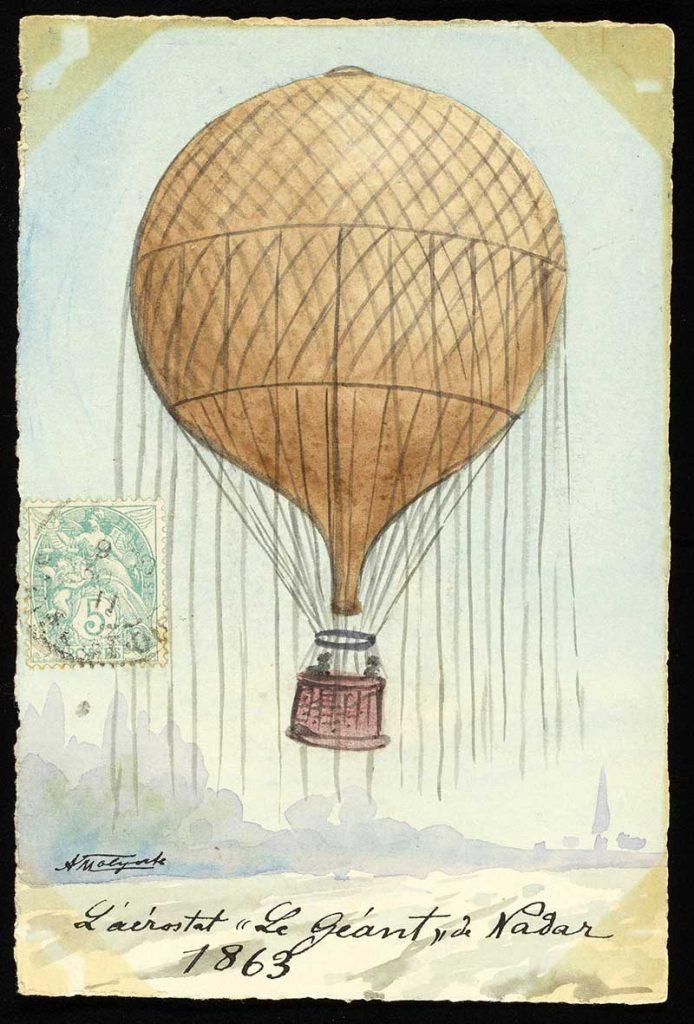 Giant vintage hot air balloon
