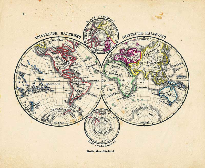 Four hemisphere maps to download for free
