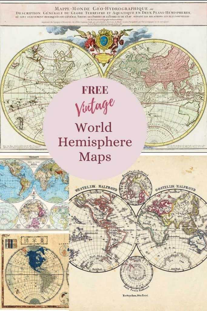 world map hemispheres