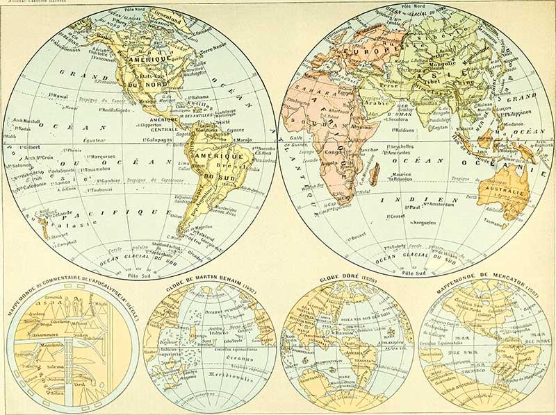 Nouveau Larousse illustré - World Map