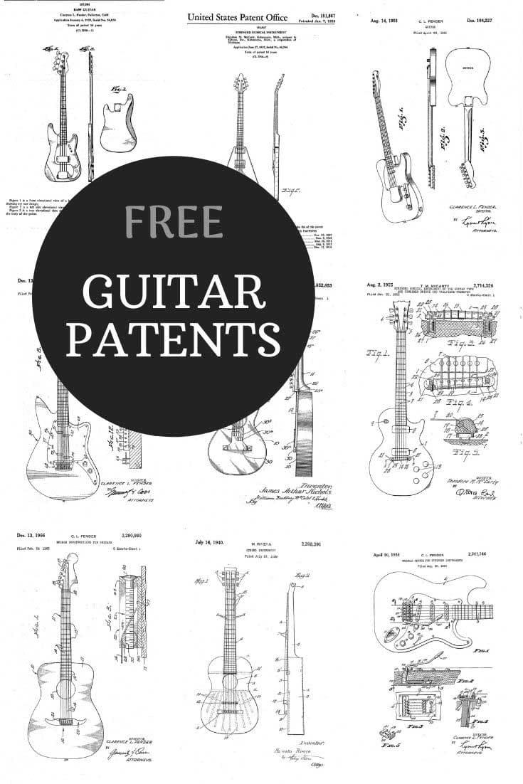 Guitar patent prints