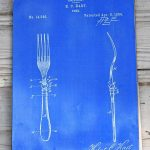 Fun blueprint upcycled placemats