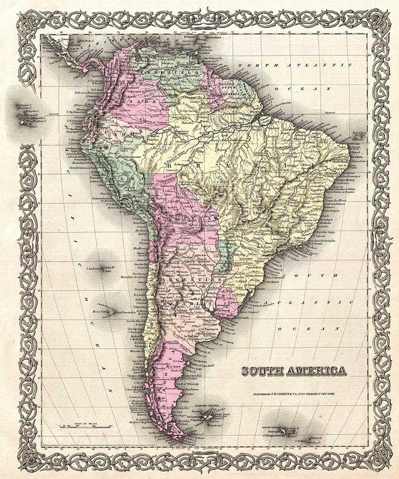 1855_Colton_Map_of_South_America