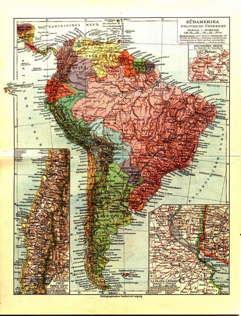 1932 German Map of South America