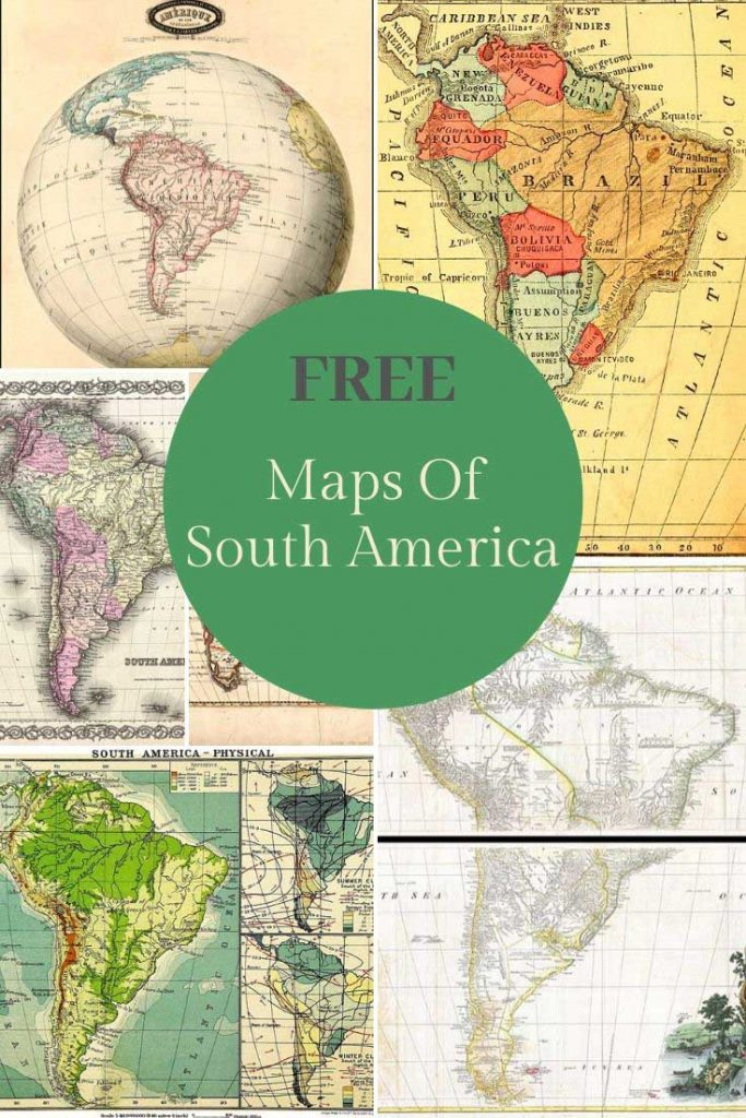 Free old maps of South America