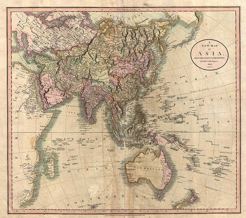 1806 Cary Map of Asia