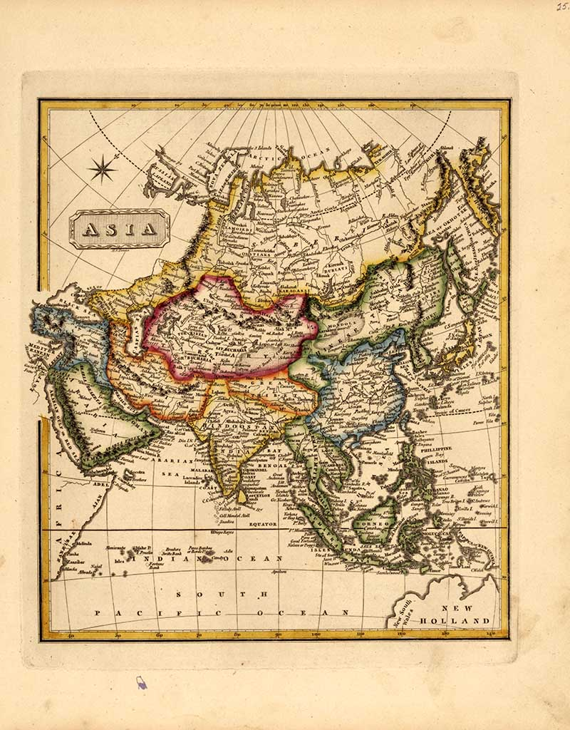 1817 map of Asia
