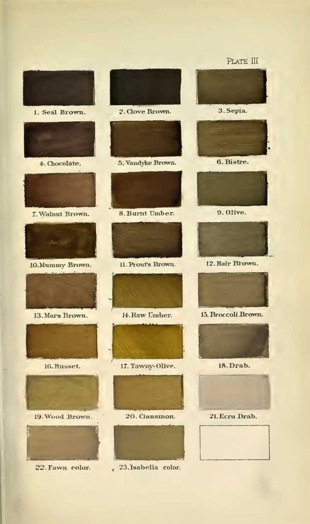 A nomenclature of colors browns