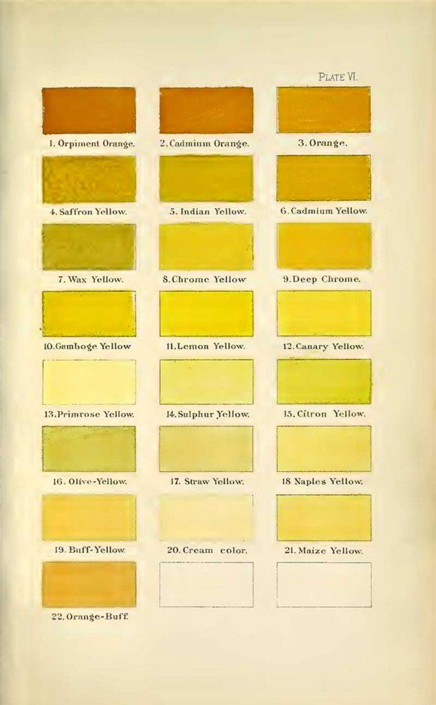 A nomenclature of colors oranges s