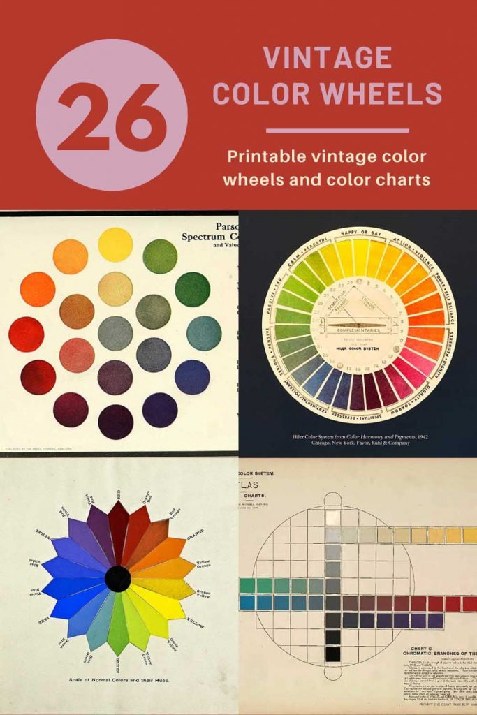 vintage color wheels and charts