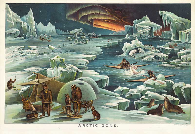 Geographical illustration of the Arctic zone