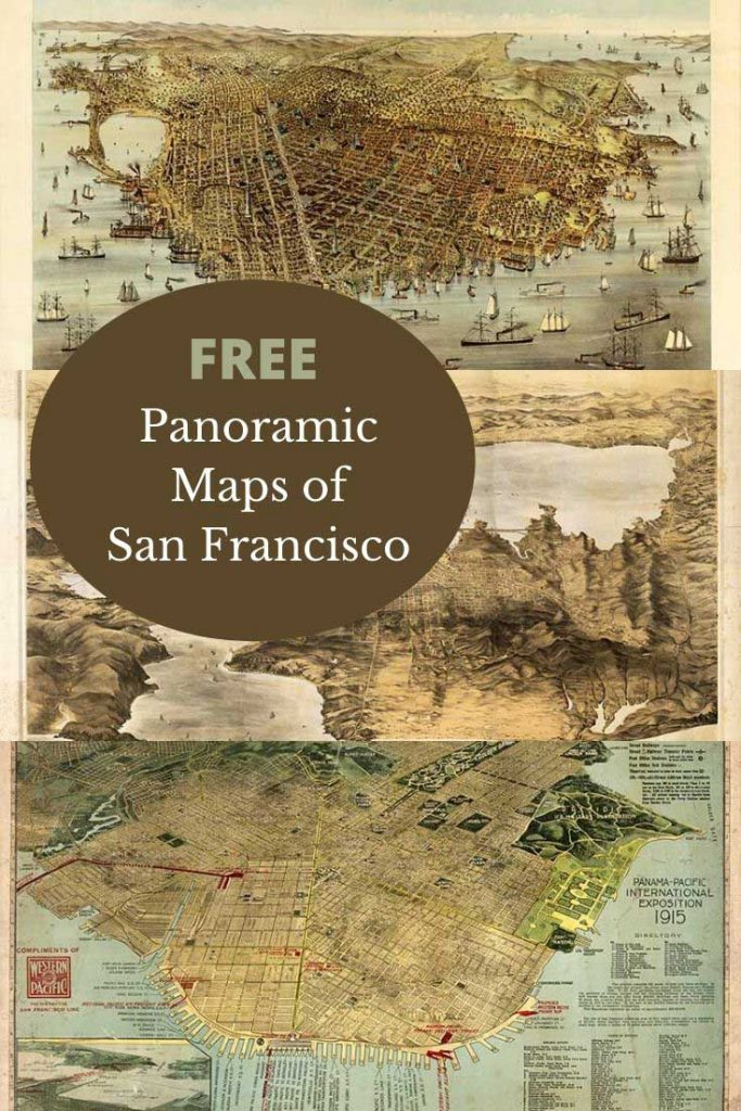 Free panoramic maps of San Francisco Bay Area