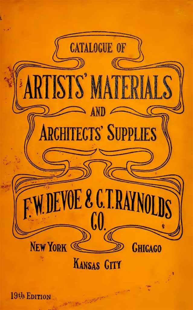 Cover of vintage artists supplies catalog