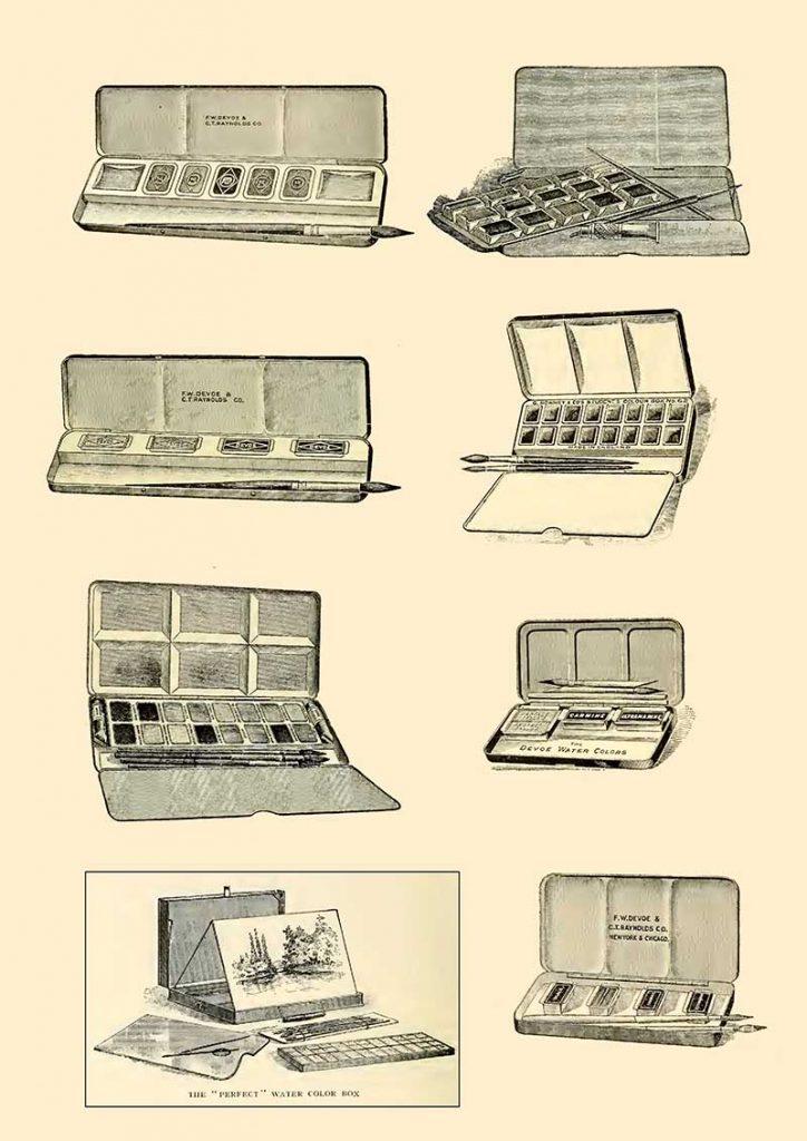 Vintage paint boxes