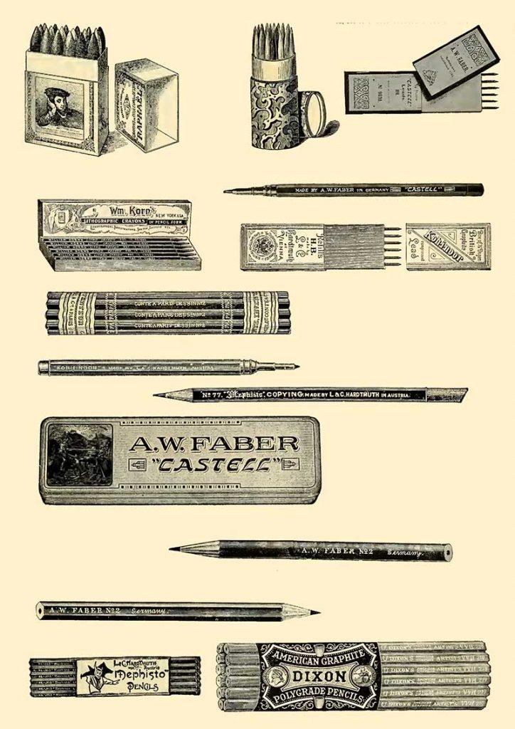 vintage artists pencils