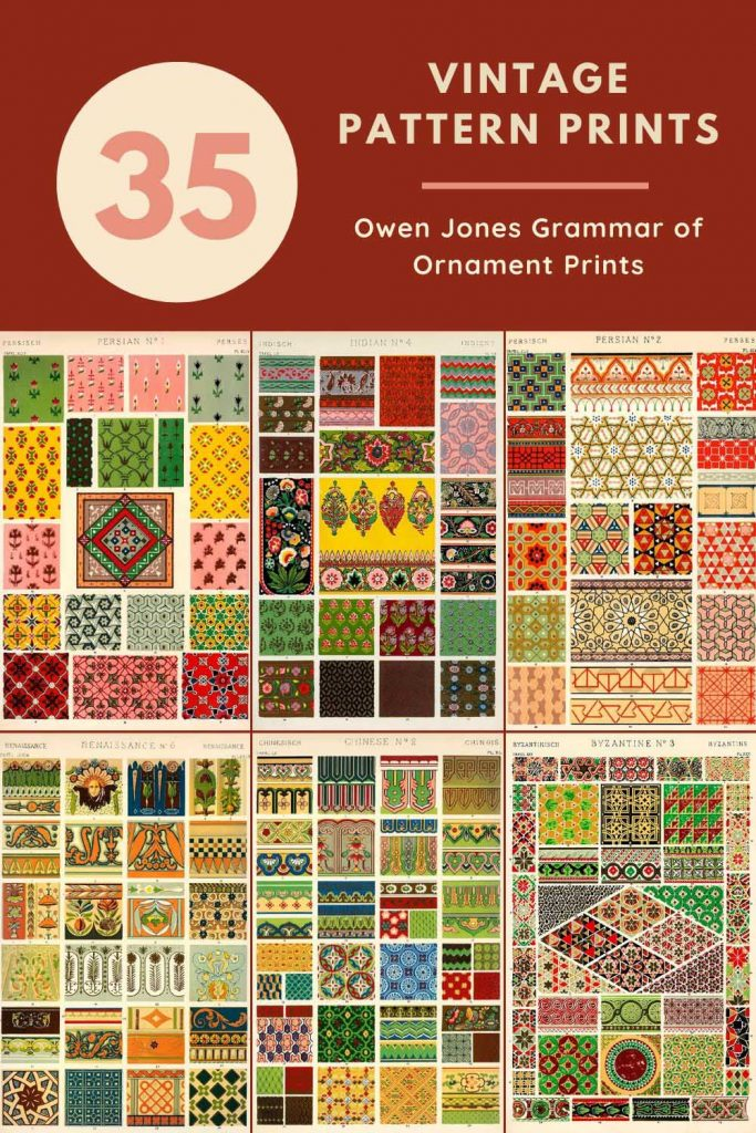 Owen Jones Grammar of Ornament Prints