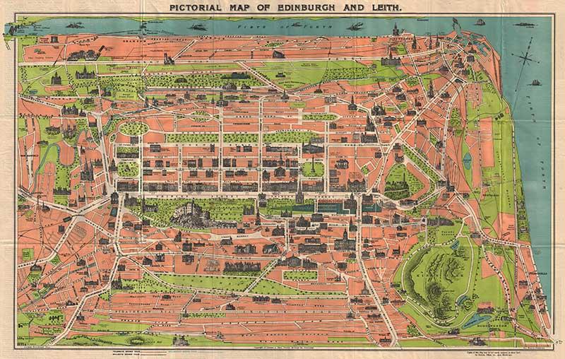 Pictorial Map of Edinburgh