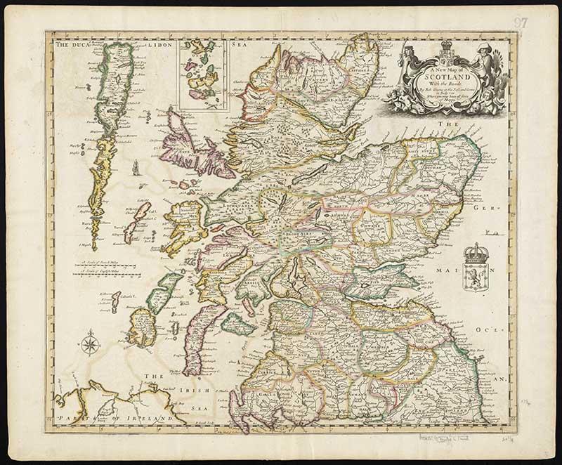 Vintage maps of Scotland