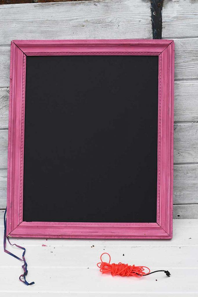 fitting foam board in the frame