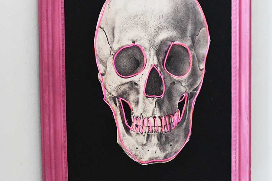 DIY skull decor for Halloween