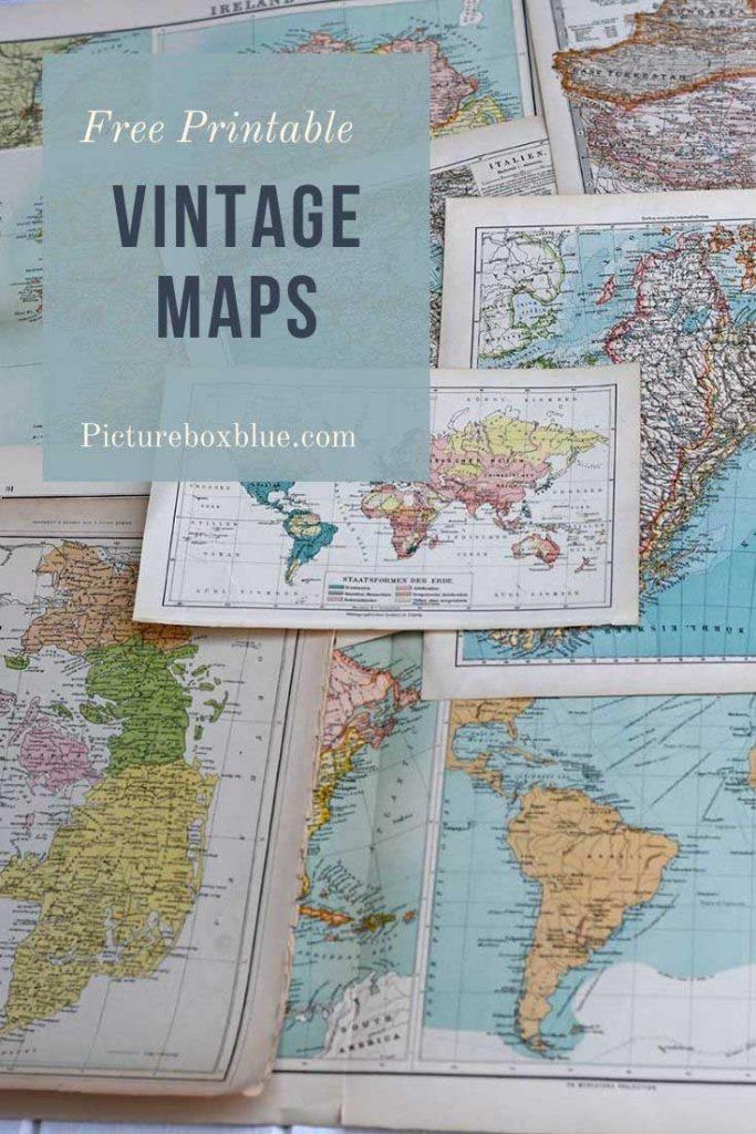 Free vintage maps to print