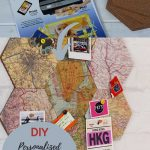 DIY map pin board
