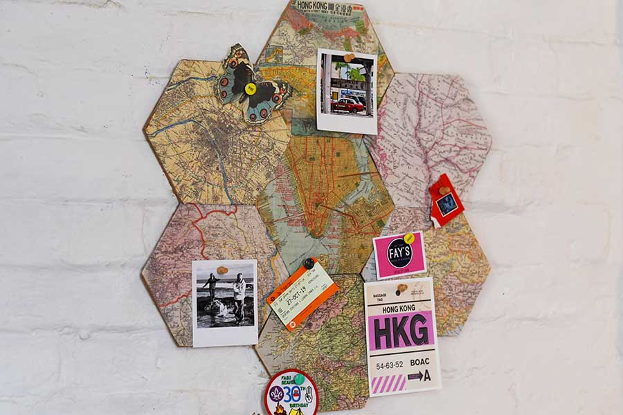 DIY map cork board