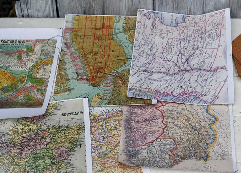 Printed fabric maps