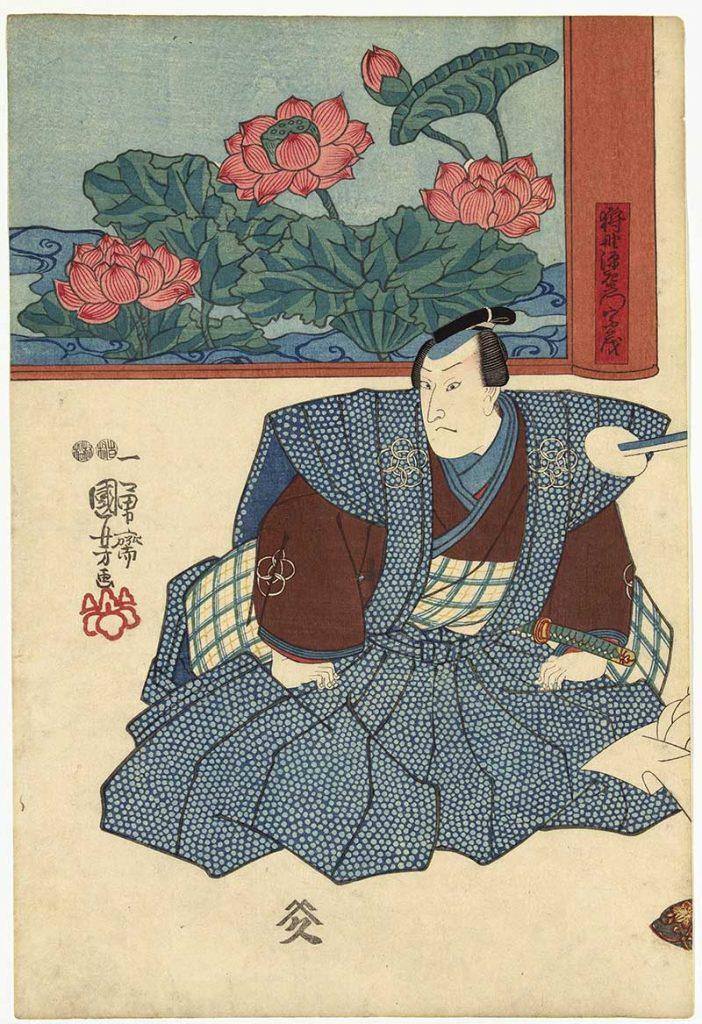 Utagawa Kuniyoshi woodcut prints 3 actors 1