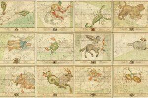 free vintage zodiac star charts