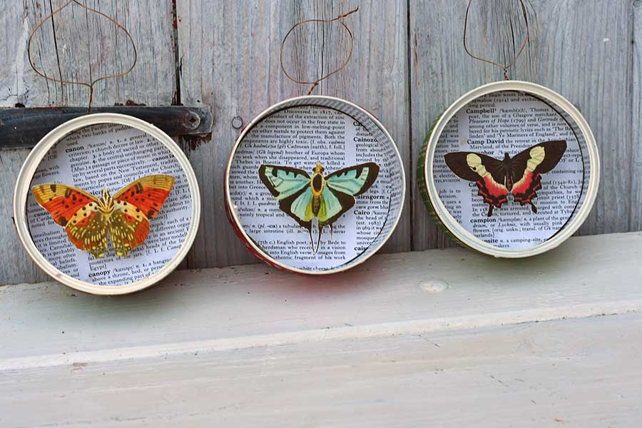 DIY Christmas butterfly ornaments