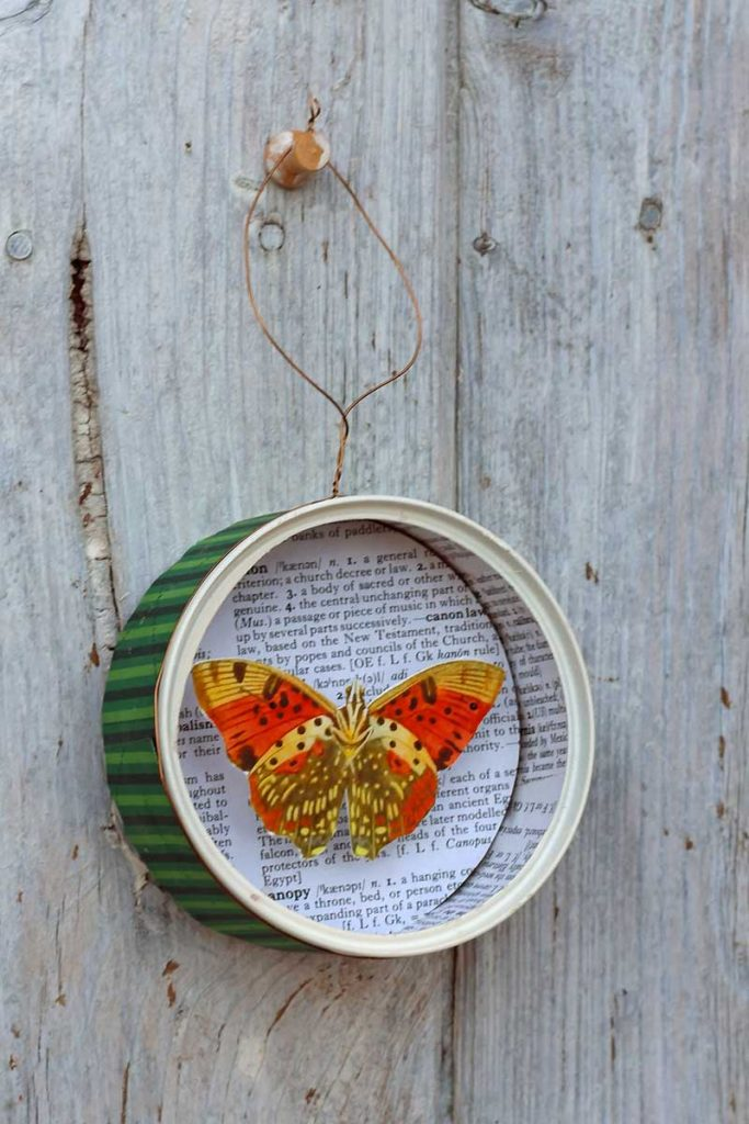DIY Butterfly Christmas Ornament