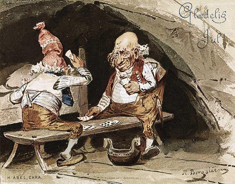 Vintage gnome illustration