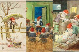 Illustrations of Scandinavian gnomes