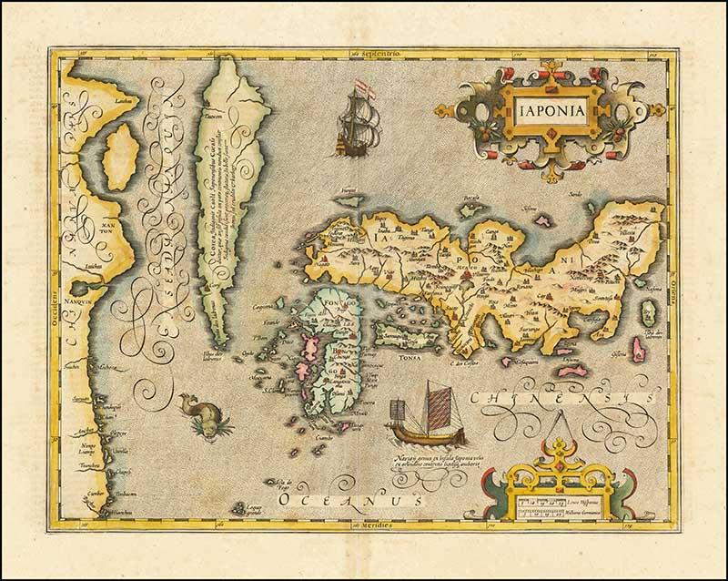 Old Latin map of Japan