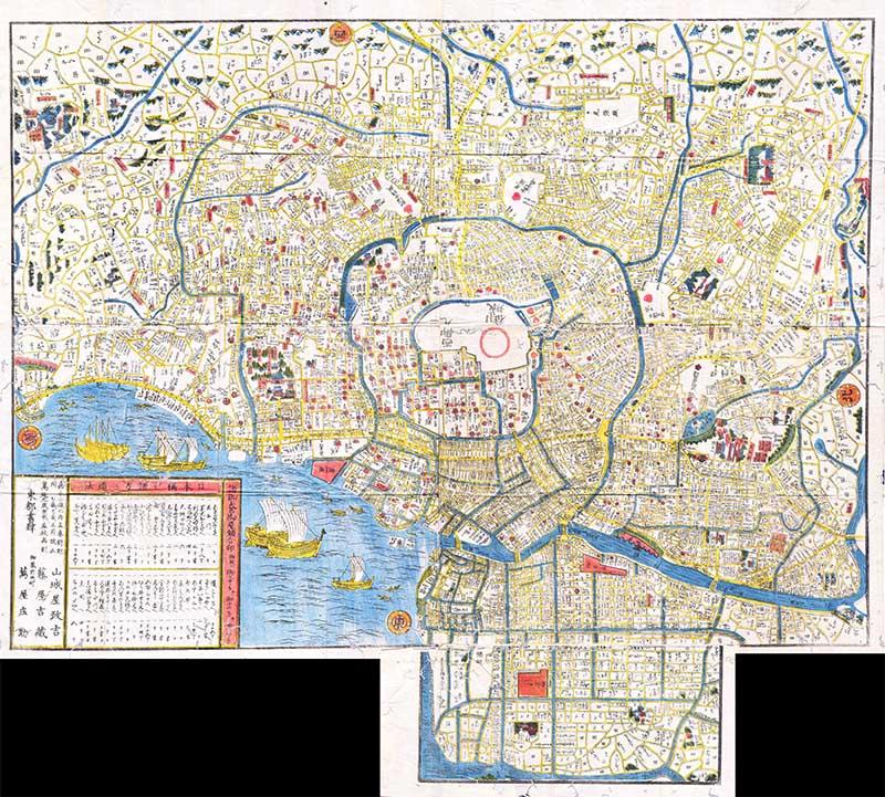 1849_Edo_Period_Japanese_Woodcut_Map_of_Edo_or_Tokyo_