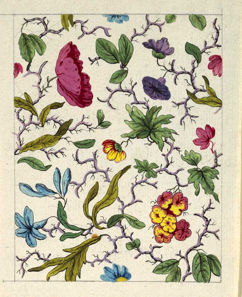 vintage floral patterns for printed textiles