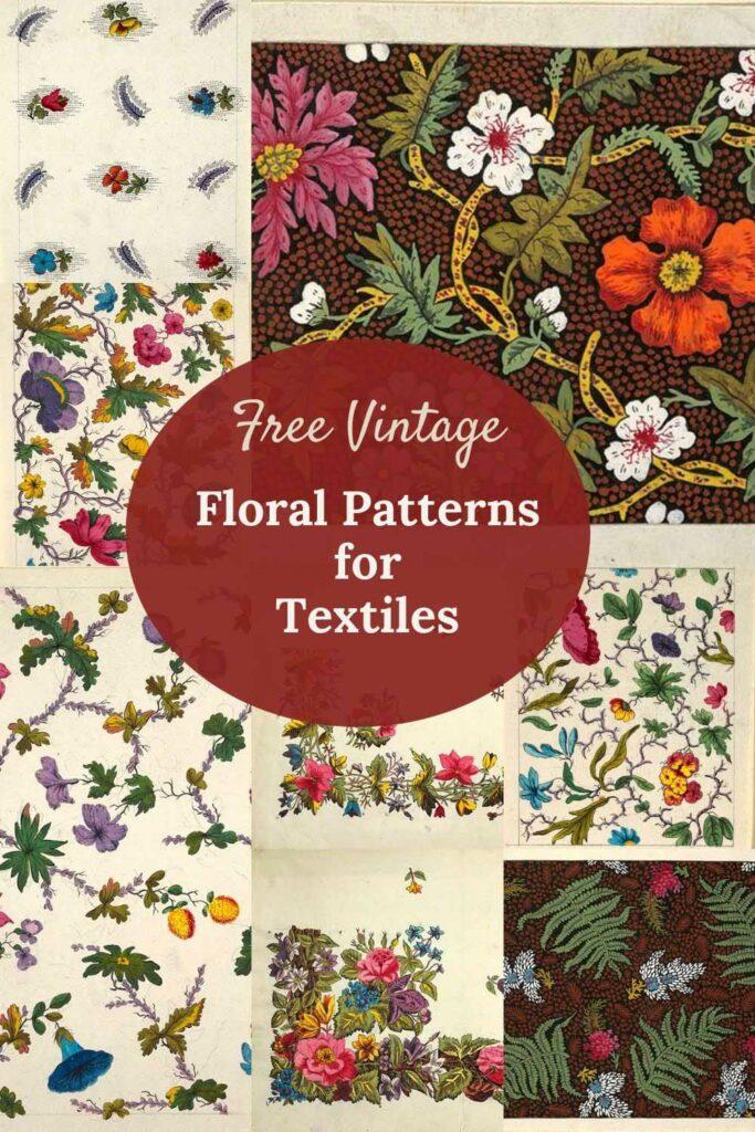 vintage floral patterns for textiles